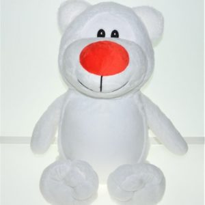 Белый мишка именная игрушка