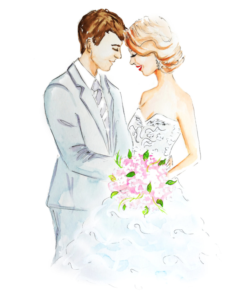 Wedding Couple Drawing 54