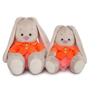 Зайка Ми в оранжевой куртке именная игрушка